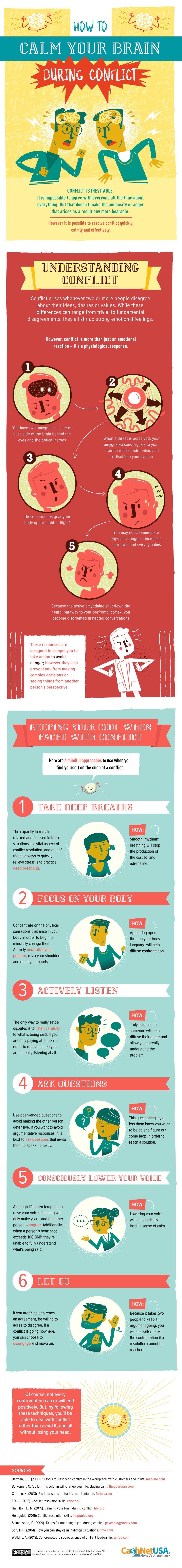 How To Calm Your Brain During Conflict (INFOGRAPHIC)
