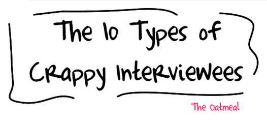 The Oatmeal's Ten Types of Crappy Interviewees