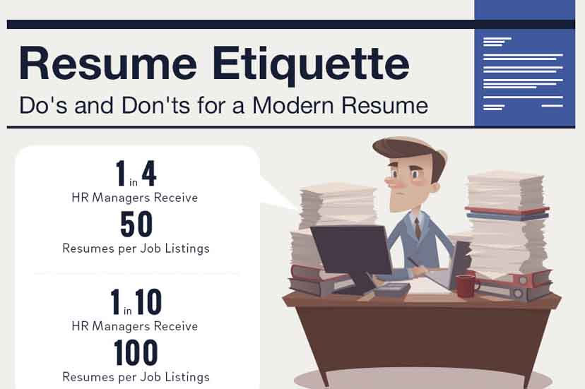 Resume Etiquette: Do\'s and Don\'ts for a Modern Resume [Infographic ...