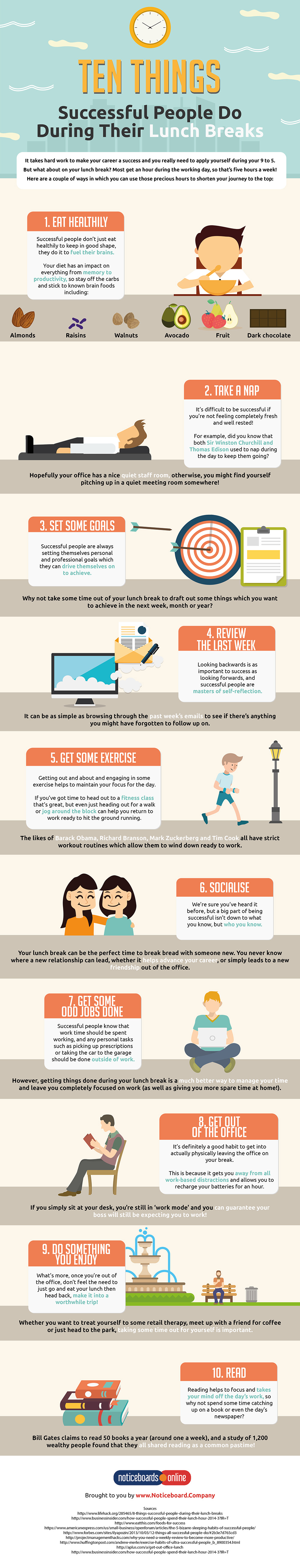 Ten Things Successful People Do During Their Lunch Breaks (INFOGRAPHIC)